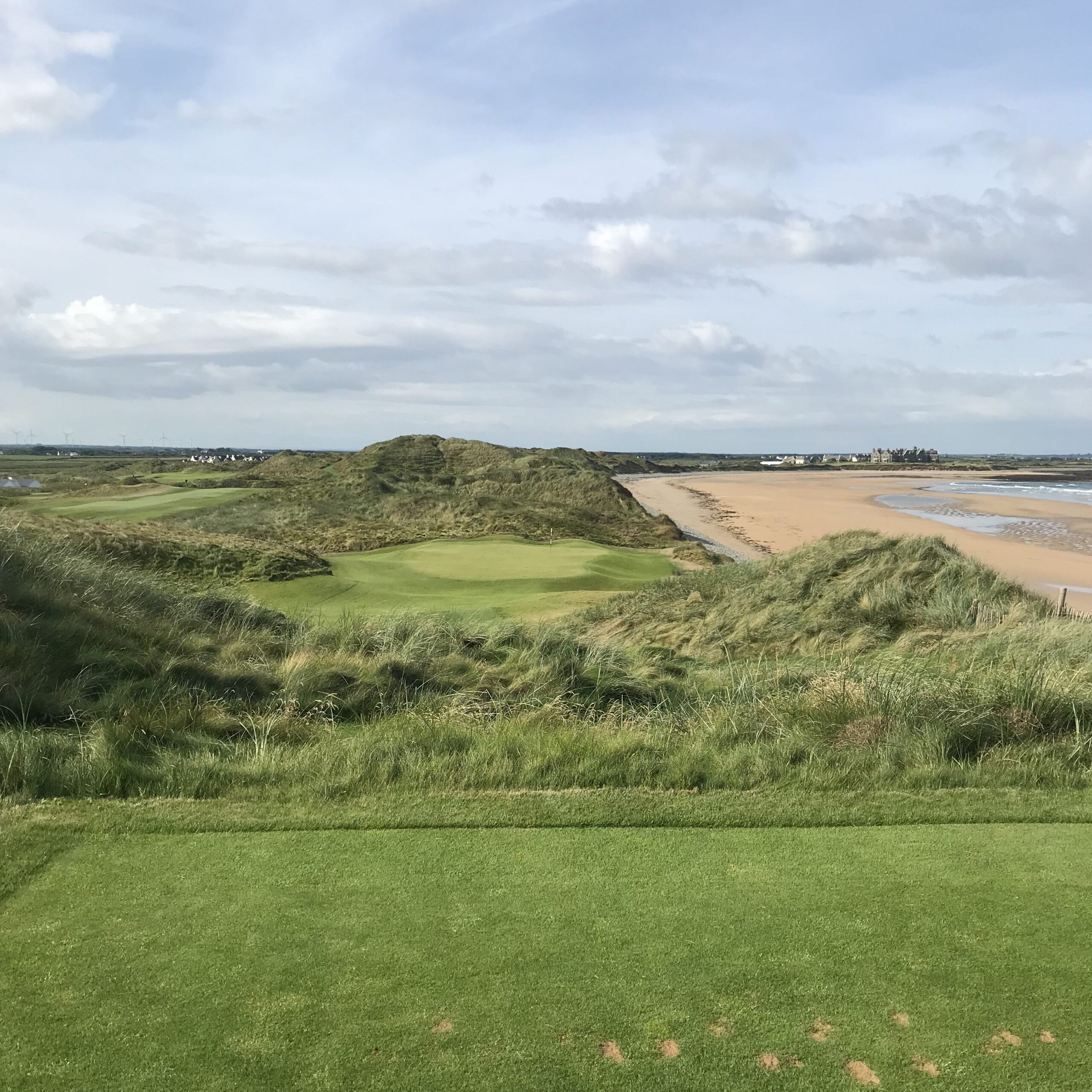 A photo of the 14th hole at Doonbeg Golf Course in Ireland