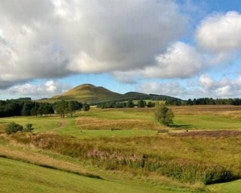 A view from the 1st tee at West Linton Golf Club