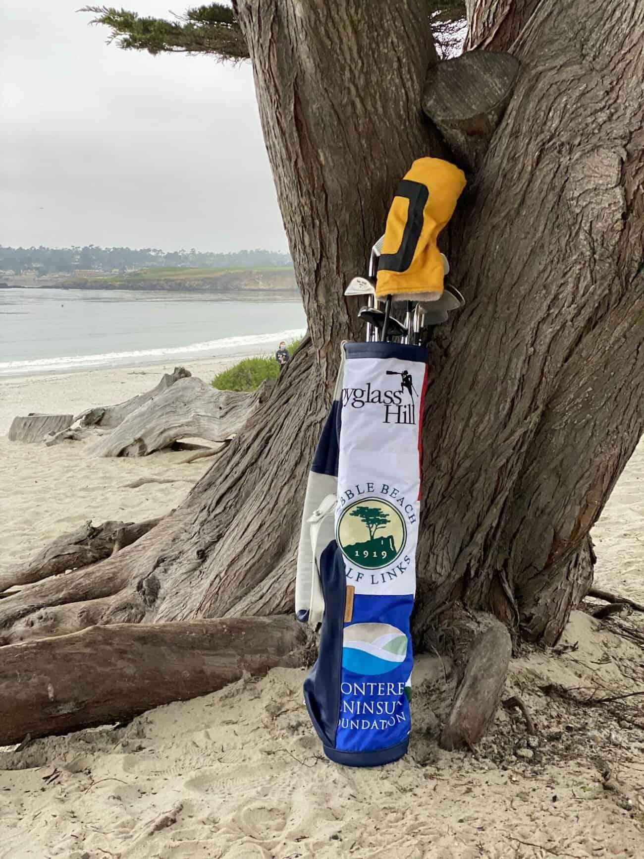 Flag Bag Golf Pebble Beach